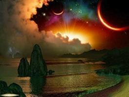 céu estrelas e sol